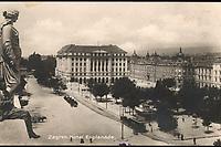 Zagreb : Hotel Esplanade. <br /> <br /> ImpresumZagreb : Naklada Rudolf Polaček, [1927].<br /> Materijalni opis1 razglednica : tisak ; 8,8 x 13,9 cm.<br /> NakladnikRudolf Polaček<br /> Mjesto izdavanjaZagreb<br /> Vrstavizualna građa • razglednice<br /> ZbirkaZbirka razglednica • Grafička zbirka NSK<br /> Formatimage/jpeg<br /> PredmetZagreb –– Trg Ante Starčevića<br /> Hotel Esplanade (Zagreb)<br /> SignaturaRZG-STAR-11<br /> Obuhvat(vremenski)20. stoljeće<br /> NapomenaRazglednica je putovala 1927. godine.<br /> PravaJavno dobro<br /> Identifikatori000953280<br /> NBN.HRNBN: urn:nbn:hr:238:817862 <br /> <br /> Izvor: Digitalne zbirke Nacionalne i sveučilišne knjižnice u Zagrebu