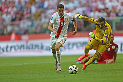 13.06.2015, Nationalstadion, Warschau, POL, UEFA Euro 2016 Qualifikation, Polen vs Greorgien, Gruppe D, im Bild ROBERT LEWANDOWSKI // during the UEFA EURO 2016 qualifier group D match between Poland and Greorgia at the Nationalstadion in Warschau, Poland on 2015/06/13. EXPA Pictures © 2015, PhotoCredit: EXPA/ Newspix/ LUKASZ GROCHALA/CYFRASPORT<br /> <br /> *****ATTENTION - for AUT, SLO, CRO, SRB, BIH, MAZ, TUR, SUI, SWE only*****