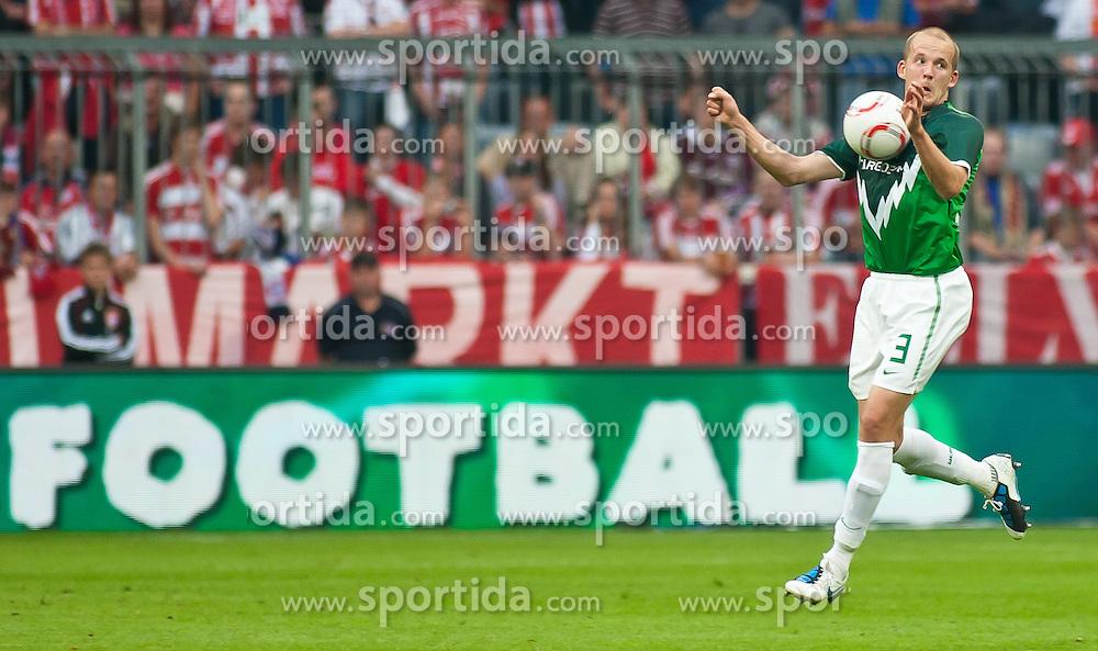11.09.2010, Allianz Arena, München, GER, 1. FBL, FC Bayern München vs Werder Bremen, im Bild Petri Pasanen, (Werder Bremen, #3), EXPA Pictures © 2010, PhotoCredit: EXPA/ J. Feichter / SPORTIDA PHOTO AGENCY