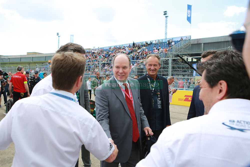 June 10, 2017 - Berlin, Berlin-Tempelhof, Germany - The photo shows Prince Albert II of Monaco on the Formula e race track on the former grounds of the Berlin airport in Berlin-Tempelhof. (Credit Image: © Simone Kuhlmey/Pacific Press via ZUMA Wire)