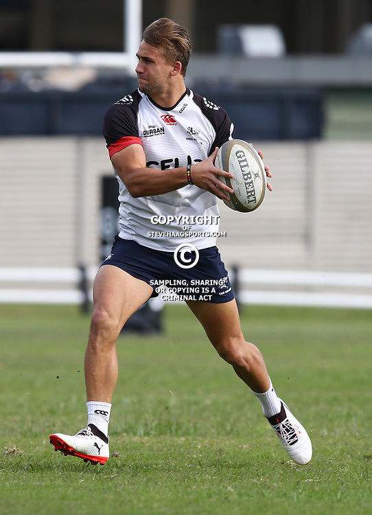Jeremy Ward during The Cell C Sharks training session at Growthpoint Kings Park in Durban, South Africa. 21 August 2017(Photo by Steve Haag)<br /> <br /> images for social media must have consent from Steve Haag
