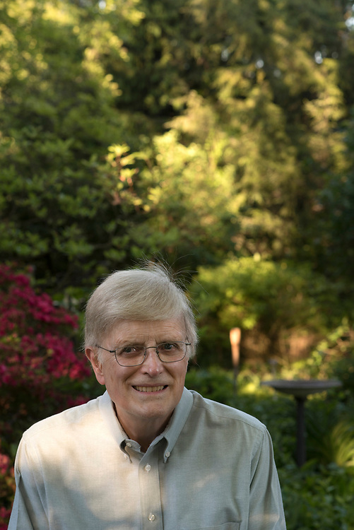 David McKibben in his garden surrounding his Mt Lebanon home.