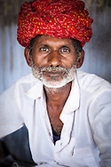 Rajasthani man in a chai shop in Pushkar near the Pushkar Camel Fair, Rajasthan, India