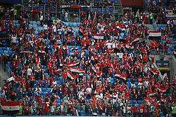 June 19, 2018 - St. Petersburg, Russia - June 19, 2018, Russia, St. Petersburg, FIFA World Cup 2018, First round, Group A, Second round, Russia - Egypt at the St Petersburg stadium. fans; fans; spectators (Credit Image: © Russian Look via ZUMA Wire)
