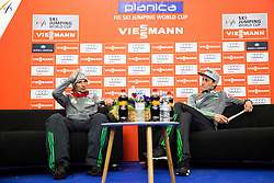 Robert Kranjec (SLO) and Peter Prevc (SLO) during press conference after the Ski Flying Hill Individual Competition at Day 4 of FIS Ski Jumping World Cup Final 2016, on March 20, 2016 in Planica, Slovenia. Photo by Vid Ponikvar / Sportida