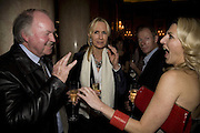 GRAHAM AND VANESSA MACPHERSON ( OWNERS OF NORTH ISLAND)  AND MELINDA STEVENS, The Tatler Travel Awards 2008. The Ritz, Piccadilly. London. 3 December 2007. -DO NOT ARCHIVE-© Copyright Photograph by Dafydd Jones. 248 Clapham Rd. London SW9 0PZ. Tel 0207 820 0771. www.dafjones.com.