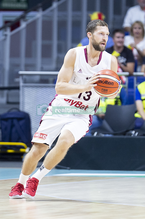 September 17, 2018 - Madrid, Spain - Janis Streinieks of Latvia during the FIBA Basketball World Cup Qualifier match Spain against Latvia at Wizink Center in Madrid, Spain. September 17, 2018. (Credit Image: © Coolmedia/NurPhoto/ZUMA Press)