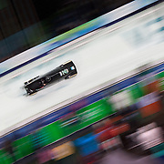Winter Olympics, Vancouver, 2010.Aoife Hoey and Claire Bergin, Ireland, in action during the Bobsleigh Women's heat one competition at Whistler Sliding Centre, Whistler, during the Vancouver Winter Olympics. 23rd February 2010. Photo Tim Clayton