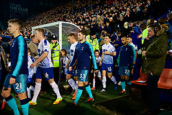 BIRKENHEAD, ENGLAND - Friday, January 4, 2019: Tottenham Hotspur's Ben Davies walks out with his team before the FA Cup 3rd Round match between Tranmere Rovers FC and Tottenham Hotspur FC at Prenton Park. (Pic by David Rawcliffe/Propaganda)