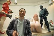 Venice Art Biennale 1999. Self portrait by Chinese artist Wang Du / Biennale Arte di Venezia 1999. Autoritratto dell'artista cinese Wang Du - © Marcello Mencarini