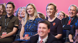 (L) Ed Miliband's wife during his keynote speech to the Labour Party Conference in Manchester, October 2, 2012. Photo by Elliott Franks / i-Images.