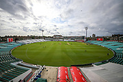 General view inside The Oval ahead of the Specsavers County Champ Div 1 match between Surrey County Cricket Club and Hampshire County Cricket Club at the Kia Oval, Kennington, United Kingdom on 18 August 2019.