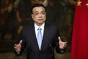 14/10/2014 Rome, italian premier and prime minister of Chinese Popular Republic press conference. Li Keqiang - © PIERPAOLO SCAVUZZO