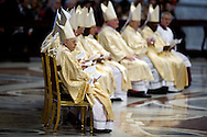 01/01/2015 Vatican City, bishops during Pope Francis leads a mass at St Peter's Basilica