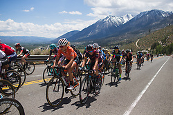 Trixi Worrack (GER) of CANYON//SRAM Racing rides mid-pack on the final climb on Stage 2 of the Amgen Tour of California - a 108 km road race, starting and finishing in South Lake Tahoe on May 18, 2018, in California, United States. (Photo by Balint Hamvas/Velofocus.com)