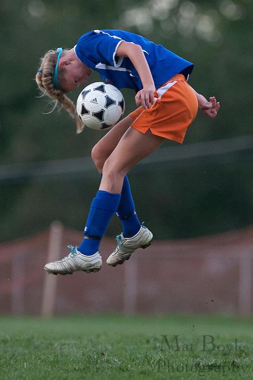 Pitman Girls Soccer Host Woodstown High School at Davis Field in Pitman, NJ on Monday September 26, 2011.