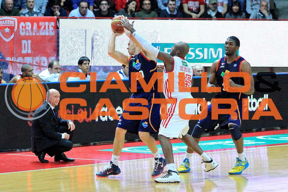 DESCRIZIONE : Varese Lega A 2013-14 Cimberio Varese vs Acea  Roma<br /> GIOCATORE :  Jimmy Baron<br /> CATEGORIA : Palleggio<br /> SQUADRA : Acea Roma<br /> EVENTO : Campionato Lega A 2013-2014<br /> GARA : Cimberio Varese Acea Roma<br /> DATA : 12/01/2014<br /> SPORT : Pallacanestro <br /> AUTORE : Agenzia Ciamillo-Castoria/I.Mancini<br /> Galleria : Lega Basket A 2012-2013  <br /> Fotonotizia : Cimberio Varese  Lega A 2013-14 Cimberio Varese vs Acea Roma<br /> Predefinita :