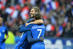 29.03.2016, Stade de France, St. Denis, FRA, Testspiel, Frankreich vs Russland, im Bild kante n'golo - cache -, gignac andre pierre, griezmann antoine // during the International Friendly Football Match between France and Russia at the Stade de France in St. Denis, France on 2016/03/29. EXPA Pictures © 2016, PhotoCredit: EXPA/ Pressesports/ LAHALLE PIERRE<br /> <br /> *****ATTENTION - for AUT, SLO, CRO, SRB, BIH, MAZ, POL only*****