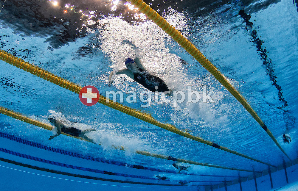 Rebecca ADLINGTON (R) of Great Britain in a hard battle with 2nd placed Lotte Friis of Denmark in the women's 800m Freestyle Final during the 14th FINA World Aquatics Championships at the Oriental Sports Center in Shanghai, China, Saturday, July 30, 2011. (Photo by Patrick B. Kraemer / MAGICPBK)