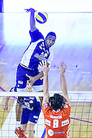 Ronald JIMENEZ / Ondrej HUDECEK  - 19.12.2014 - Beauvais / Saint Nazaire - 12e journee de Ligue A<br />Photo : Fred Porcu / Icon Sport
