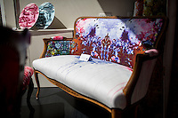 Glasgow, Scotland - JULY 11, 2014: The Timorous Beasties storefront showcases the provocative designs of Alistair McAuley and Paul Simmons. They are best known for their contemporary take on French Toile. CREDIT: Chris Carmichael for The New York Times