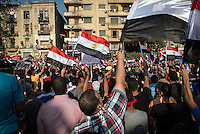 Anti-Morsi protesters fill Tahrir square, chanting for the downfall of the Morsi regime.