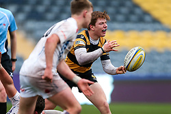 Will Porter (capt) of Wasps U18 - Rogan Thomson/JMP - 16/02/2017 - RUGBY UNION - Sixways Stadium - Worcester, England - Wasps U18 v Exeter Chiefs U18 - Premiership Rugby Under 18 Academy Finals Day 3rd Place Play-Off.