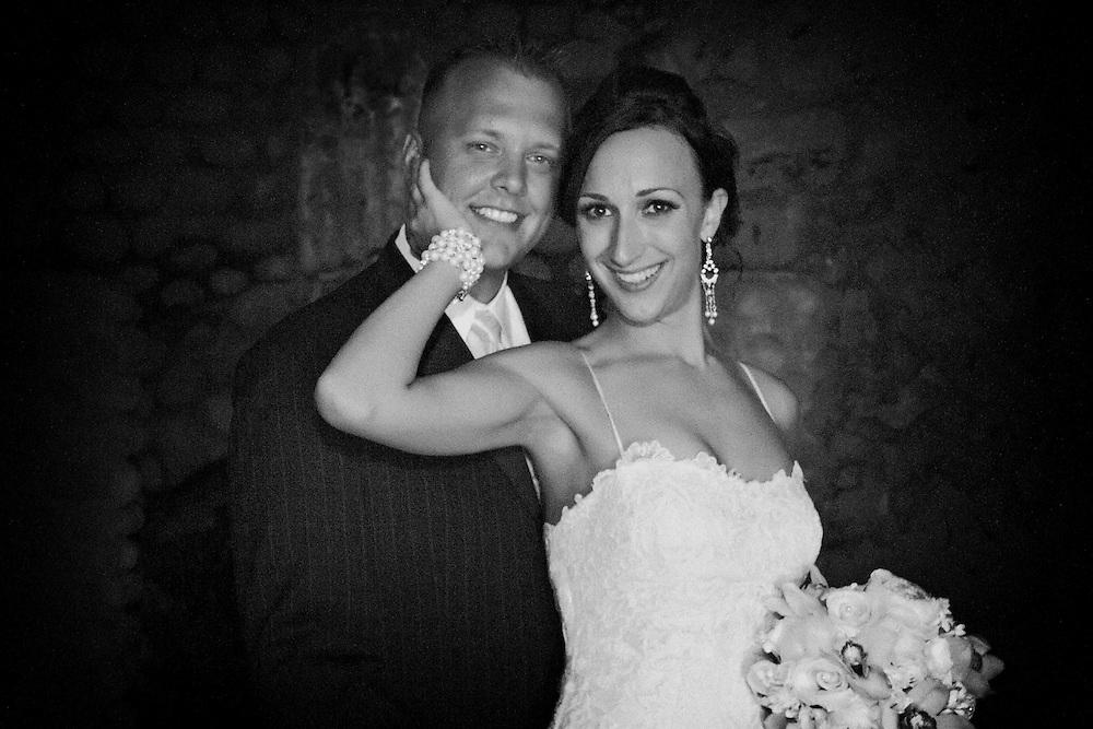 The lovely newlyweds