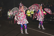 The 2011 entry from Cousins Carnival Club, unusually titled giANTS. Bridgwater Carnival is an annual event to raise money for local charities. It is widely reputed to be the largest illuminated carnival in the world.
