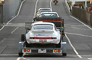 Gary Tierney & David Carra.Porsche 911 Carrera RS.Arrive off the Spirit of Tasmania in Devonport.Pre Event.Targa Tasmania 2009.27th of April 2009.(C) Joel Strickland Photographics.