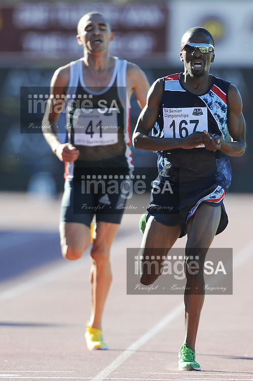 STELLENBOSCH, South Africa - Saturday 13 April 2013, Stephen Mokoka (167) in the mens 5000m during day 2 of the South African Senior Athletics championships at the University of Stellenbosch's Coetzenburg stadium.Photo by Roger Sedres/ ImageSA