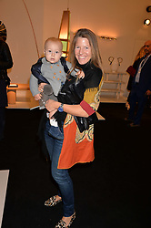 Anoushka Figueroa Branco and her son Carlos at the 2017 PAD Collector's Preview, Berkeley Square, London, England. 02 October 2017.