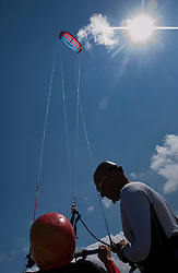 Kitesurfing lessons on the North Sea. (Photo © Jock Fistick)