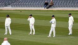 The Gloucestershire slip cordon as they field against Durham MCC University - Mandatory by-line: Robbie Stephenson/JMP - 01/04/2016 - CRICKET - Bristol County Ground - Bristol, United Kingdom - Gloucestershire v Durham MCC University - MCC University Match