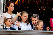 26-5-2018 COPENHAGEN - birthday party for prince Frederick 50 birthday at the palace Queen Margrethe,, Crownprince Frederik, Crownprincess Mary, Prince Christian, Princess Josephine of Denmark, Princess Isabella of Denmark, Prince Vincent of Denmark ROBIN UTRECHT<br /> <br /> 26-5-2018 COPENHAGEN - verjaardagsfeestje voor prins Frederik 50ste verjaardag in het paleis Koningin Margrethe, Kroonprins Frederik, Kroonprinses Maria, Prins Christian, Prinses Josephine of Denemarken, Prinses Isabella of Denemarken, Prins Vincent of Denemarken ROBIN UTRECHT