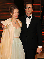 Andy Samberg and Joanna Newsom arrive at the 2014 Vanity Fair Oscar Party in West Hollywood, California, USA,  Sunday, 2nd March 2014. Picture by Hollywood Bubbles / i-Images<br /> UK ONLY