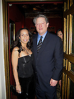**EXCLUSIVE**.Claudine Oriol & Al Gore.Entertainment Weekly and Al Gore celebration honoring the filmmakers behind An Inconvenient Truth.Home of Melanie Griffith and Antonio Banderas.Hancock Park, California, USA.Thursday, February 22, 2007.Photo By Celebrityvibe; .To license this image please call (212) 410 5354 ; or.Email: celebrityvibe@gmail.com ;