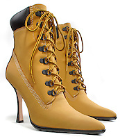 High Heeled Work Boot