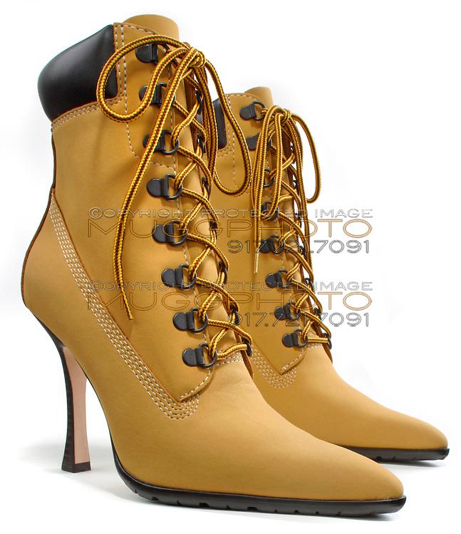 High Heeled Work Boot