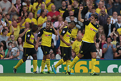 Watford's Gabriele Angella celebrates after scoring a goal   - Photo mandatory by-line: Nigel Pitts-Drake/JMP - Tel: Mobile: 07966 386802 10/08/2013 - SPORT - FOOTBALL - Vicarage Road - Hertfordshire -  Watford v AFC Bournemouth - Sky Bet Championship