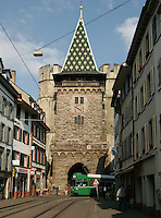 BASEL, Fussball, Euro 2008 Vorschau, Staedte, Basel,Das Spalentor in gotischer Bauweise ,Foto:Pressefoto Ulmer/Schaadfoto/Andreas Schaad PUBLICATION NOT IN AUT