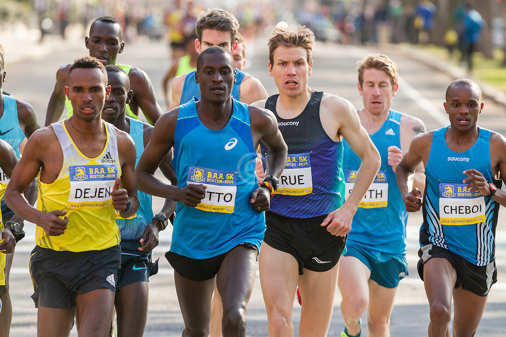 BAA 5K, pack of leading men, led by Rutto, Gebremeskel, True
