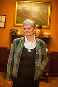 "Frau Skala - Eigentümerin des Familien Restaurant ""U Ampezonu"" in der Konviktska Strasse in Prag."