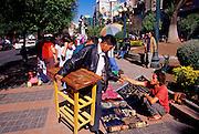BOLIVIA, LA PAZ Plaza de Estudiante and El Prado