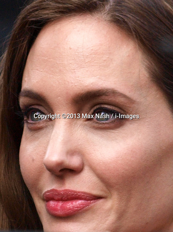 Angelina Jolie as she arrives for the World War Z UK film premiere at The Empire, Leicester Square, London, United Kingdom, <br /> Sunday, 2nd June 2013<br /> <br /> Picture by Max Nash / i-Images