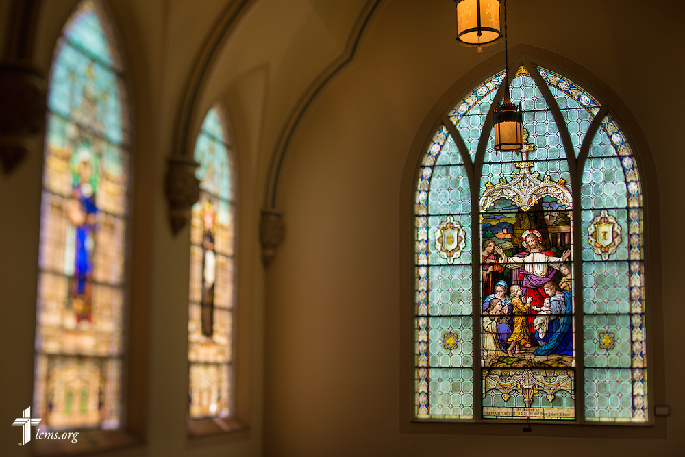 Photographs in the historic chapel of Laclede Groves on Friday, July 24, 2015, in Webster Groves, Mo. LCMS Communications/Erik M. Lunsford