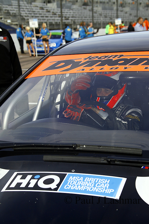 HiQ BTCC Rockingham,.Jonny Herbert prepares for race one on the grid