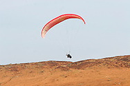 Paraglider taking off from Stanage Edge Derbyshire ..., Travel, lifestyle