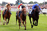 WOVEN (9) ridden by Jamie Spencer and trained by David Simcock winning The Judith Marshall Memorial British EBF Novice Stakes over 7f (£15,000)  during the Newby and the Press Family Raceday at York Racecourse, York, United Kingdom on 9 September 2018. Picture by Mick Atkins.