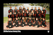 2008 Miami Hurricanes Swimming & Diving Team Photo